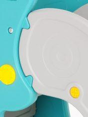 Забавна детска пързалка Дино, синя